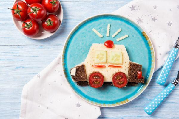 Bocadillos Fríos o Sandwiches para Fiestas para niños coche