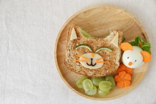 Bocadillos Fríos o Sandwiches para Fiestas para niños gato