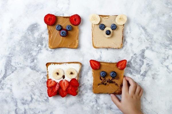 Bocadillos Fríos o Sandwiches para Fiestas para niños