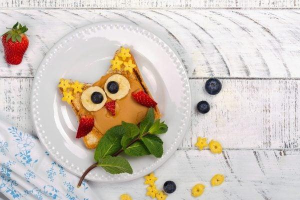 Bocadillos Fríos o Sandwiches para Fiestas para niños buho