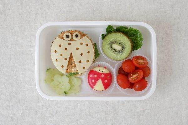 Bocadillos Fríos o Sandwiches para Fiestas para niños mariquita