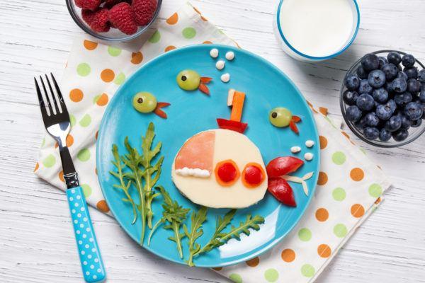 Bocadillos Fríos o Sandwiches para Fiestas para niños submarino