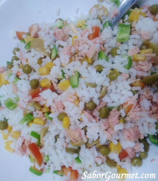Ensalada de arroz fria