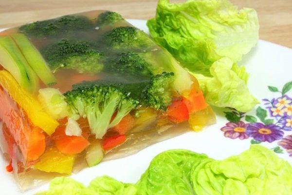 Aspic de verduras ideal para la dieta del verano
