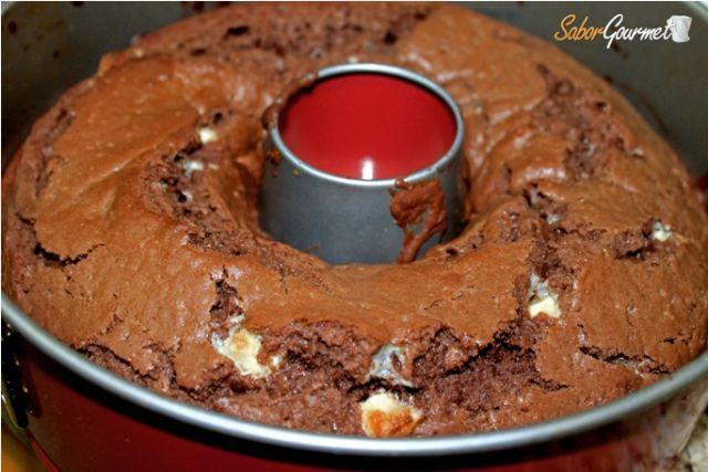 bizcocho chocolate negro-blanco