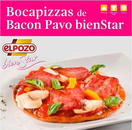 bocapizzas de bacon pavo