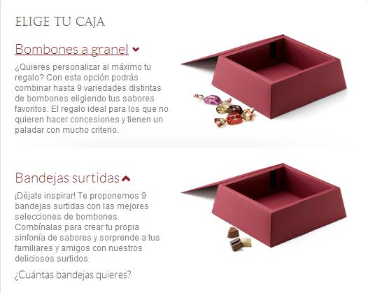 caja bombones