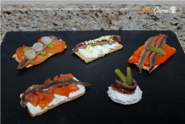 canapes de anchoa