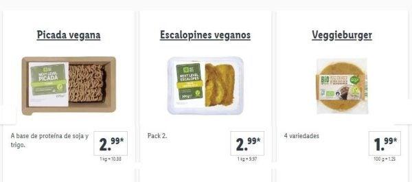 Catalogo comida vegetariana lidl escalopines
