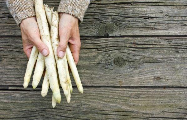 Cocer esparragos blancos frescos
