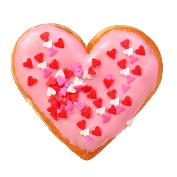 Como hacer donuts para san valentin con forma de corazon con glaseado