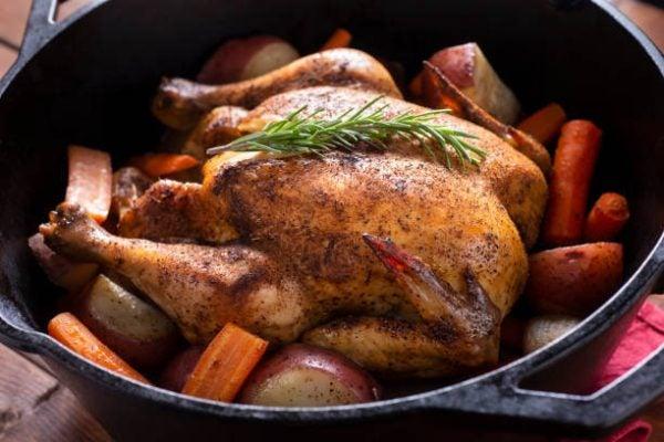 Como hacer pollo al horno en cocotte