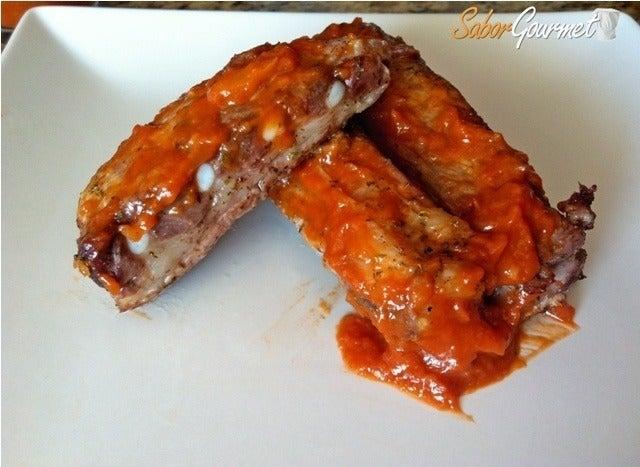 costillas en salsa barbacoa