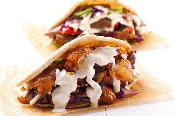El kebab tipico de turquia