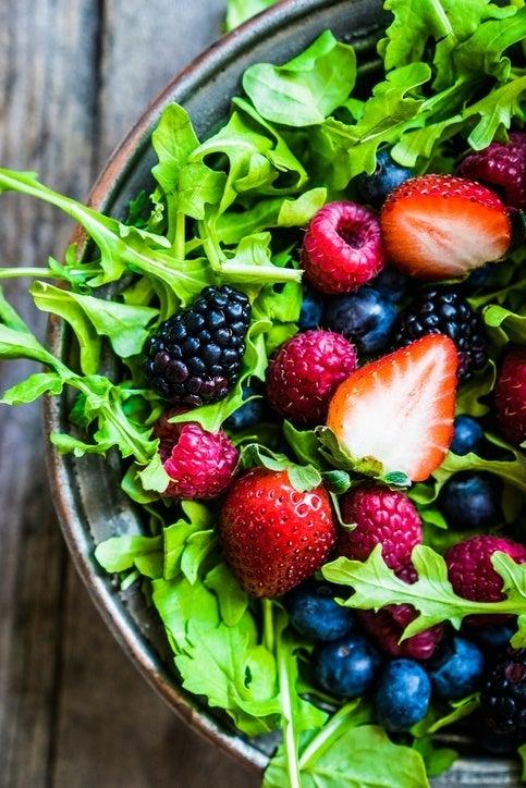 Ensaladas con fruta light