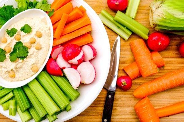 Entrantes frios faciles crudite de verduras