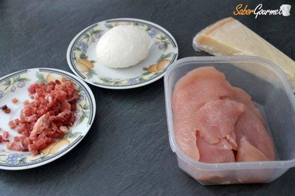 filetes-de-pavo-rellenos-de-mozzarella-ingredientes