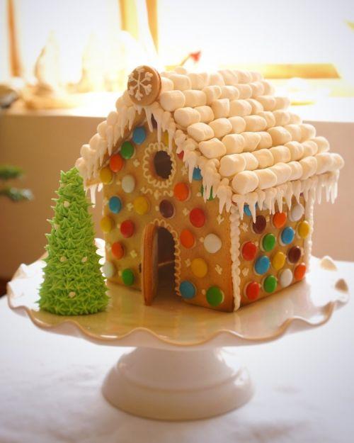 Casa de galletas de Navidad