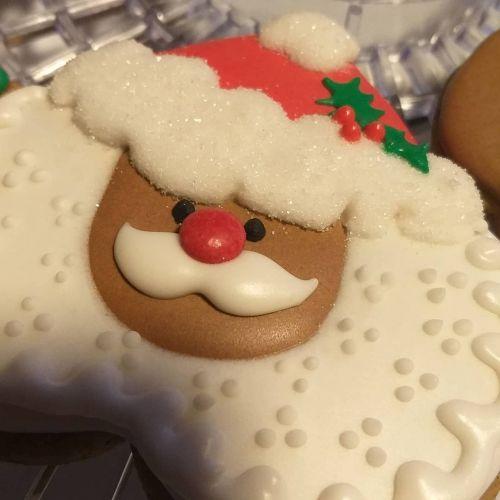Galleta de Navidad de Papá Noel de azúcar