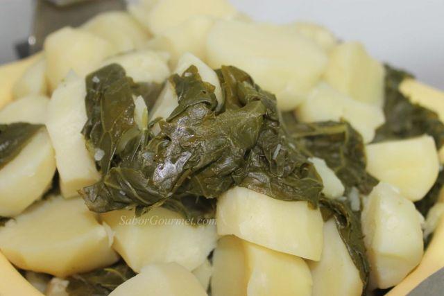 grelos con patatas