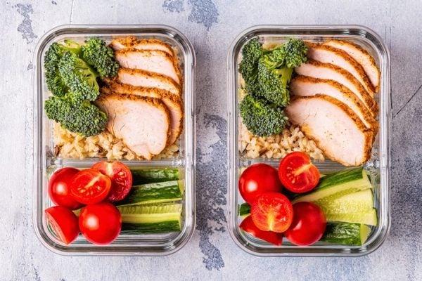 Meal prep recetas pollo verdura