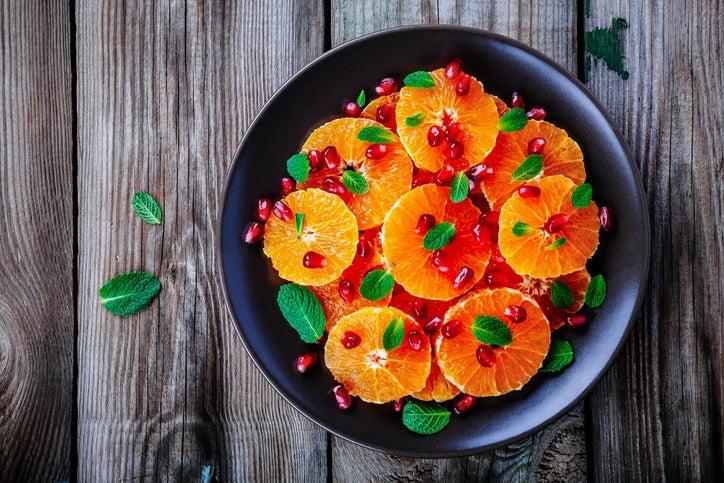 Mejores ensaladas para navidad ensalada de naranja y granada