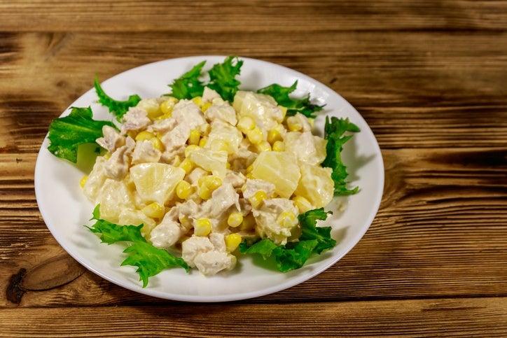 Mejores ensaladas para navidad ensalada pollo y pina