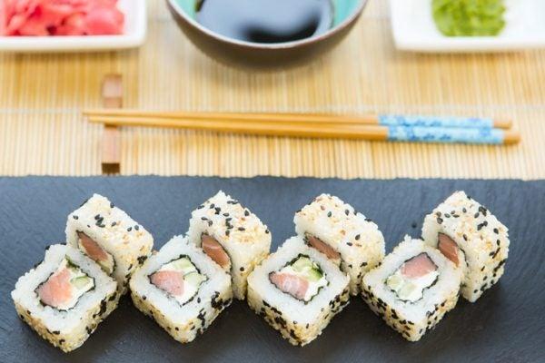 Mejores recetas sushi salmon pepino