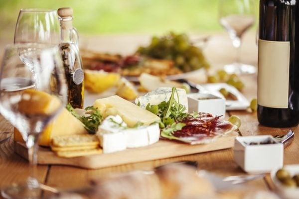 Menu sanvalentin tabla quesos