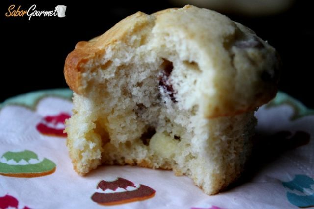 muffins arandanos chocolate blanco