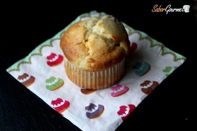 muffins chocolate blanco arandanos