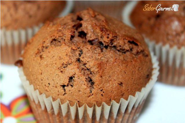 muffins rellenos chocolate