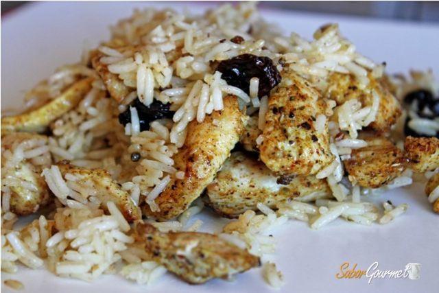 pollo al curry de madras