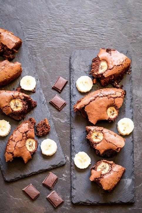Postres para diabeticos sin azucar brownie de platano
