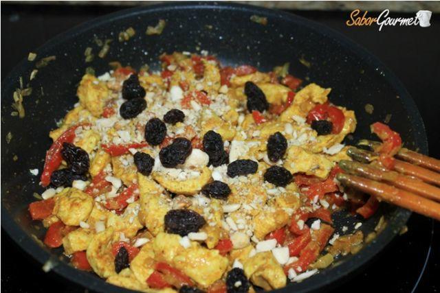 preparación pollo curry