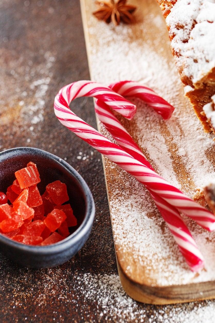 Receta bastones de caramelo de navidad