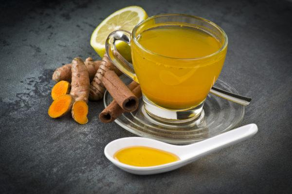 Receta de infusion de curcuma beneficios