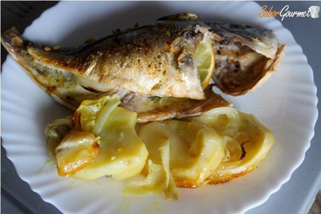 receta dorada al horno