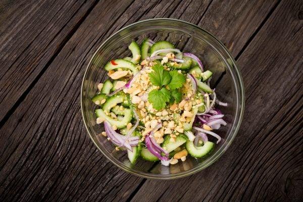 Receta ensalada tailandesa pepino