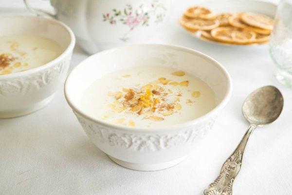 Receta sopa almendras