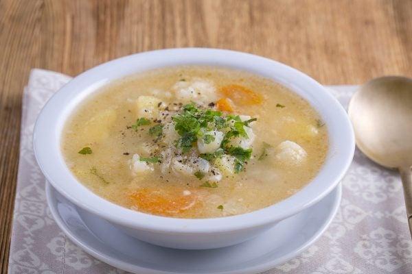 Receta sopa coliflor