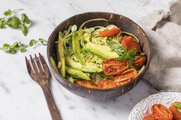 Recetas sin azucar ni carbohidratos para comer ensalada verdura horno