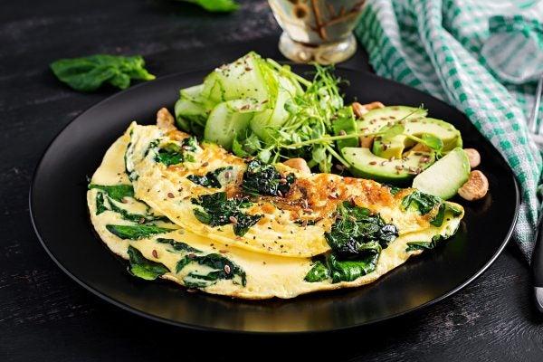 Recetas sin azucar ni carbohidratos para desayunar tortilla espinacas