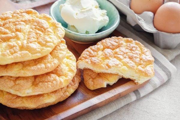 Recetas sin azucar ni carbohidratos para merendar pan nube