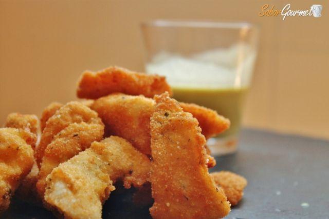 sticks de pollo salsa de mostaza y miel