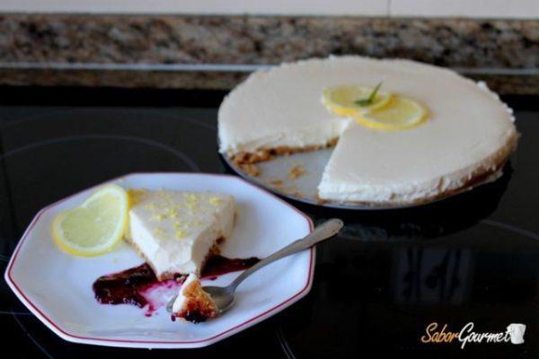 tarta de queso limon