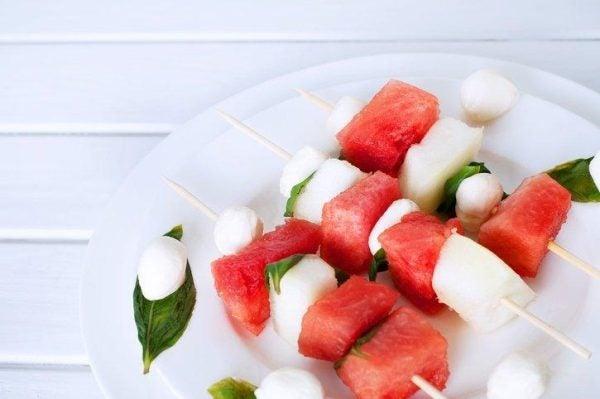 13 maneras deliciosas de comerse una sandia brocheta
