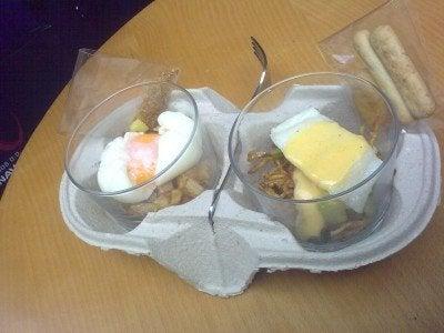 Huevo trufado y Bacalao