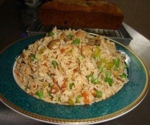Arroz frito al estilo chino