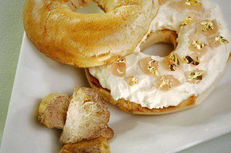 Bagel de queso crema y trufa blanca (Hotel Westin de Nueva York)
